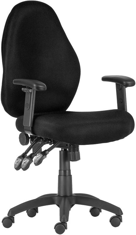 7201 UFO CR menedzser forgószék | TRM ülőfelület | krómozott lábkereszt | fekete