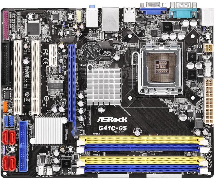 ASRock G41C-GS R2.0, G41, ICH7, COMBO DDR2-800/DDR3-1066, 4xSATA2, VGA, mATX
