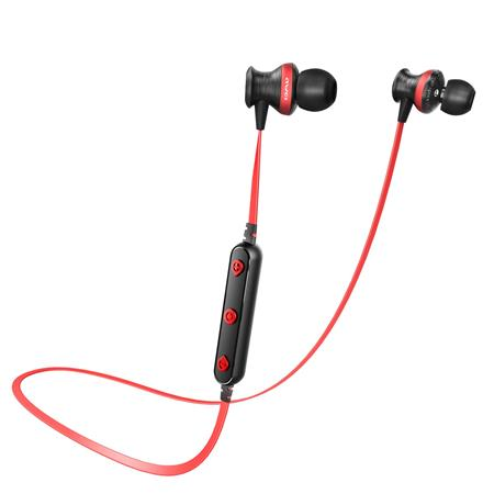 Fülhallgató, mikrofon, Bluetooth, AWEI B980BL, piros