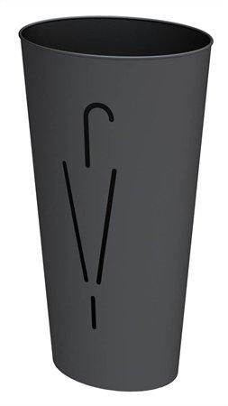 Esernyőtartó, fém, ALBA Rainy, fekete