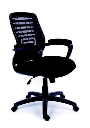 MaYAH Smart irodai forgószék | karfás | fekete szövetborítás | hálós háttámla | fekete lábkereszt