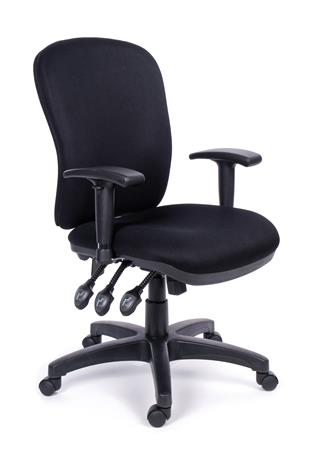 MaYAH Super Comfort irodai forgószék | állítható karfa | fekete gyöngyszövet-borítás | fekete lábkereszt
