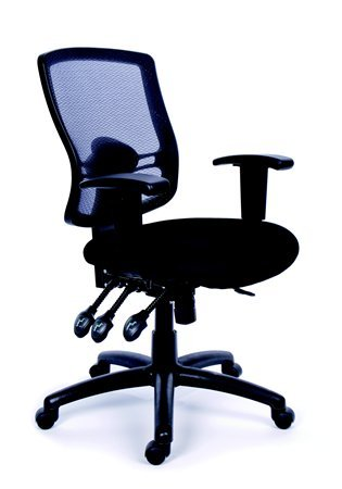MaYAH Creative irodai forgószék | állítható karfa | fekete szövetborítás | hálós háttámla | fekete lábkereszt