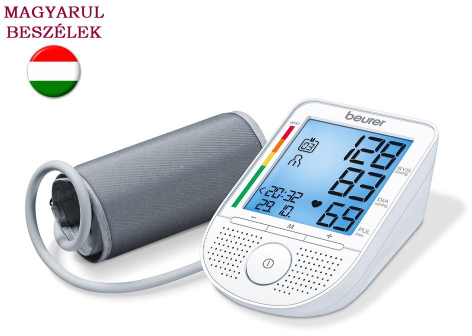 Beurer BM 49 magyarul beszélő felkaros vérnyomásmérő