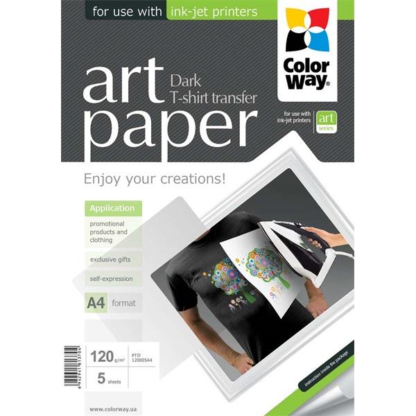 768d141ec3 COLORWAY Fotópapír, ART series, pólóra vasalható fólia, sötét (ART T-shirt