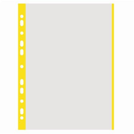 Genotherm, lefűzhető, színes szélű, A4, 40 mikron, narancsos felület, DONAU, sárga
