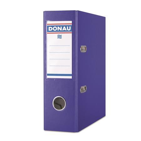 Iratrendező, 75 mm, A5, PP/karton, DONAU Master, kék