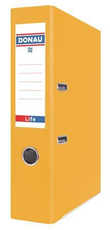 Iratrendező, 75 mm, A4, PP/karton DONAU Life, neon sárga