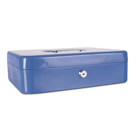 Pénzkazetta, 30x24x9 cm, DONAU, kék