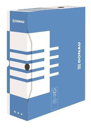 Archiválódoboz, A4, 100 mm, karton, DONAU, kék