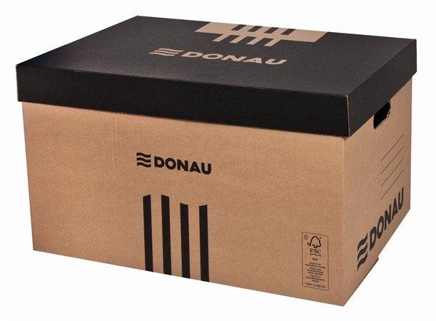 Archiváló konténer, levehető tető, 545x363x317 mm, karton, DONAU