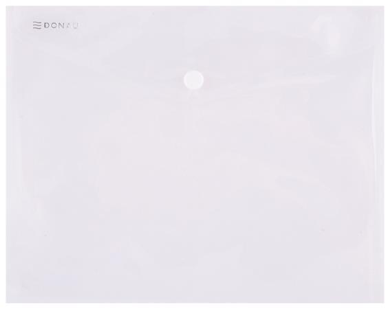 Irattartó tasak, 240x186x0,18, A5, PP, patentos, DONAU, áttetsző