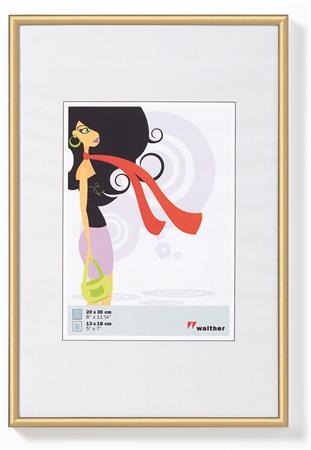 Képkeret, műanyag, 10 x15 cm,  New  Lifestyle, arany
