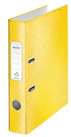 Iratrendező, 52 mm, A4, karton, LEITZ 180 Wow, sárga