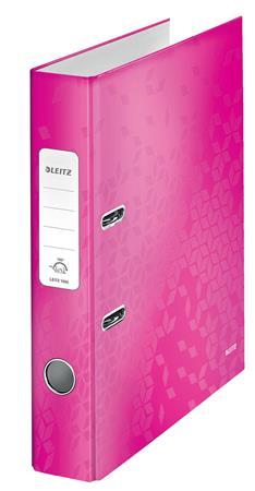 Iratrendező, 52 mm, A4, karton, LEITZ 180 Wow, rózsaszín