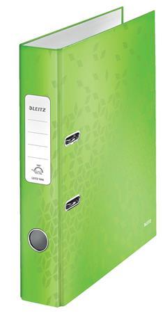 Iratrendező, 52 mm, A4, karton, LEITZ 180 Wow, zöld
