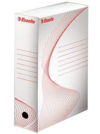 Archiválódoboz, A4, 100 mm, karton, ESSELTE Boxy, fehér