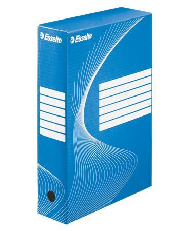Archiválódoboz, A4, 80 mm, karton, ESSELTE Boxycolor, kék