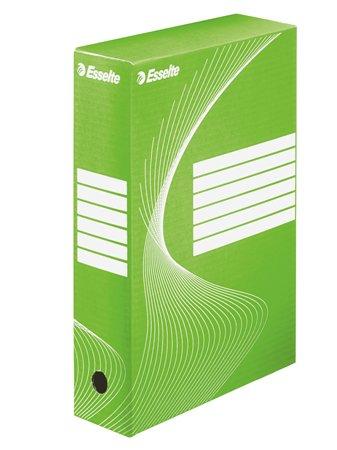 Archiválódoboz, A4, 80 mm, karton, ESSELTE Boxycolor, zöld