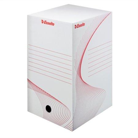 Archiválódoboz, A4, 200 mm, karton, ESSELTE Boxy, fehér