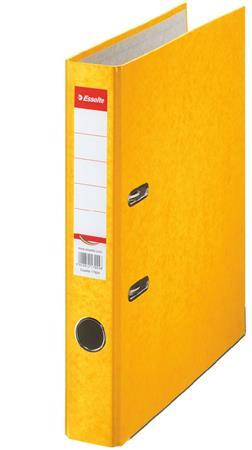 Iratrendező, 50 mm, A4, karton, ESSELTE Rainbow, sárga