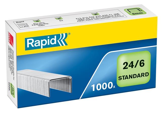 Tűzőkapocs, 24/6, horganyzott, RAPID Standard