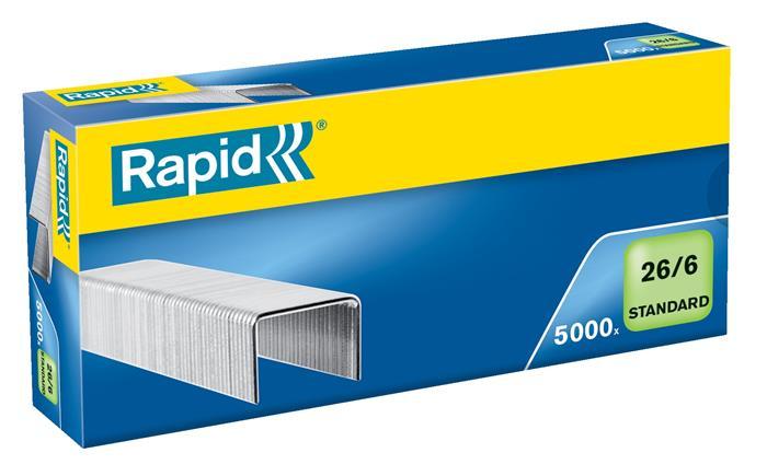 Tűzőkapocs, 26/6, horganyzott, RAPID Standard