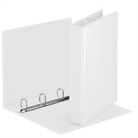 Gyűrűs könyv, panorámás, 4 gyűrű, D alakú, 50 mm, A4, PP, ESSELTE, fehér