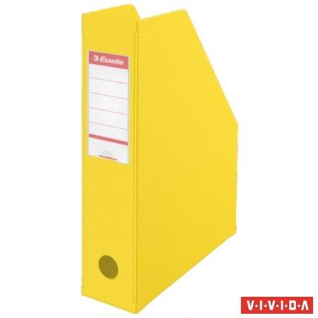 Iratpapucs, PVC/karton, 70 mm, összehajtható, ESSELTE, Vivida sárga