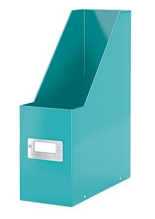 Iratpapucs, PP/karton, 95 mm, LEITZ Click&Store, jégkék