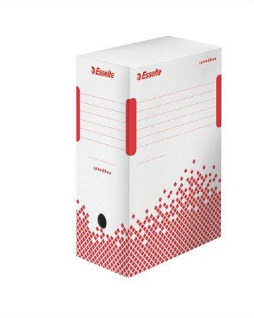 Archiválódoboz, A4, 150 mm, újrahasznosított karton, ESSELTE Speedbox, fehér