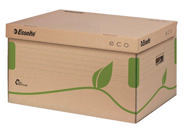 Archiválókonténer, újrahasznosított karton, felfelé nyíló, ESSELTE Eco, barna