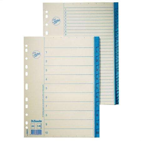 Regiszter, karton, A4, 1-31, ESSELTE, fehér