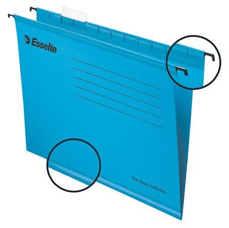 Függőmappa, újrahasznosított karton, A4, ESSELTE Classic, kék