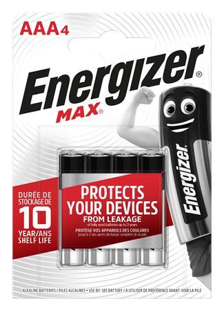 Elem, AAA mikro, 4 db, ENERGIZER Max