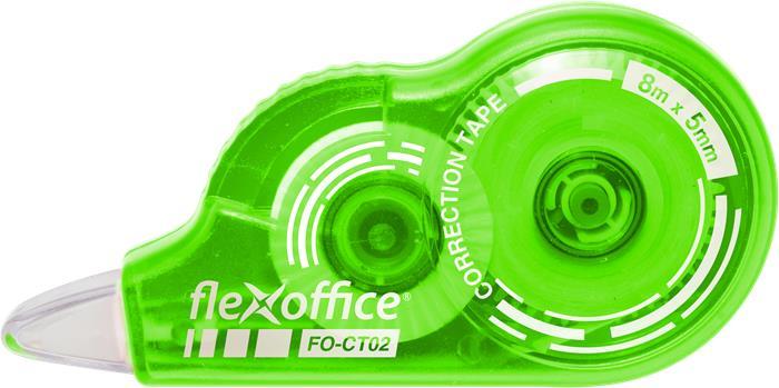 Hibajavító roller, 5 mm x 8 m, FLEXOFFICE FO-CT02, vegyes színek