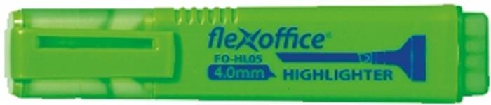 Szövegkiemelő, 1-4 mm, FLEXOFFICE HL05, zöld