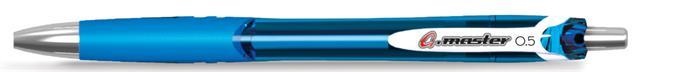 Zseléstoll, 0,25 mm, nyomógombos, FLEXOFFICE, G.master, kék