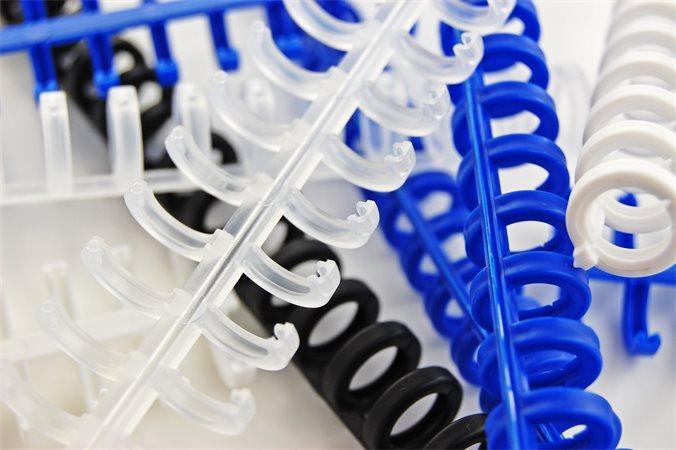 Spirál, műanyag, 8 mm, 45 lap, GBC ClickBind, átlátszó