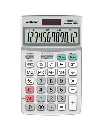 Számológép, asztali, 12 számjegy, CASIO JF-120ECO