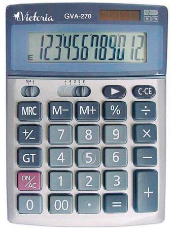 Számológép, asztali, 12 számjegy, VICTORIA GVA-270