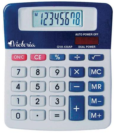 Számológép, asztali, 8 számjegy, VICTORIA GVA-430AP