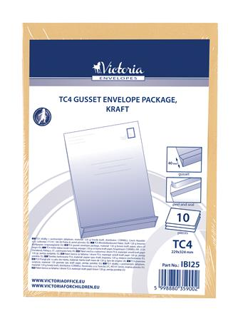Redős-talpas tasak csomag, TC4, szilikonos, 40 mm talp, VICTORIA, barna kraft