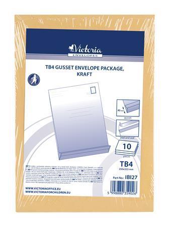 Redős-talpas tasak csomag, TB4, szilikonos, 40 mm talp, VICTORIA, barna kraft