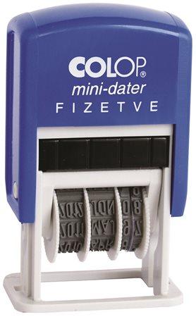 Dátumbélyegző, COLOP S 160/L, Fizetve