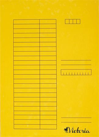 Pólyás dosszié, karton, A4, VICTORIA, sárga