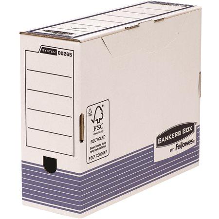 Archiválódoboz, 100 mm, BANKERS BOX® SYSTEM by FELLOWES®, kék