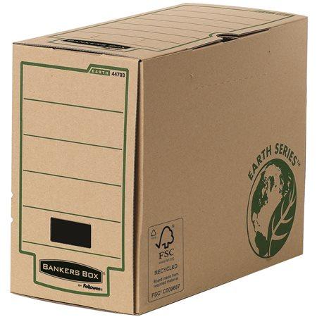 Archiválódoboz, 150 mm, BANKERS BOX® EARTH SERIES by FELLOWES®, barna