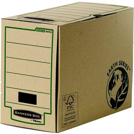 Archiválódoboz, 200 mm, BANKERS BOX® EARTH SERIES by FELLOWES®, barna