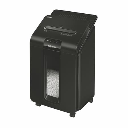 Fellowes AutoMax™ 100M hybrid automata iratmegsemmisítő | 4x10 mm mini-konfetti | 90 lap | 23l kosár